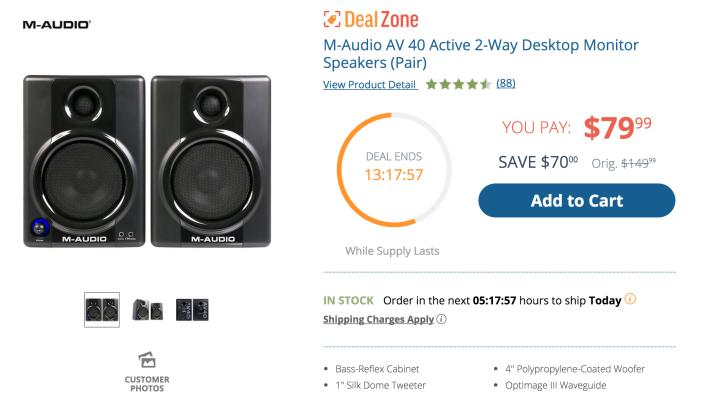 M-Audio Studiophile AV 40 Active Studio Monitor Speakers-sale-02