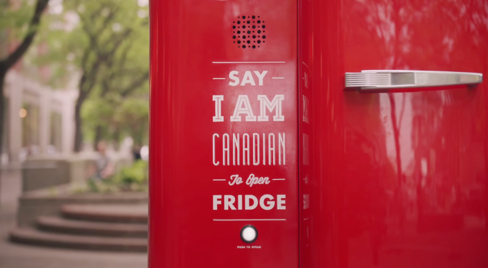 Molson-Google-beer-voice activated-beer-fridge