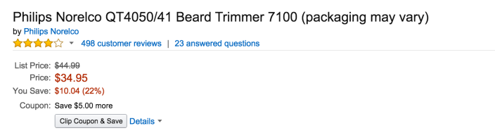 Philips Norelco QT4050:41 Beard Trimmer 7100-sale-02