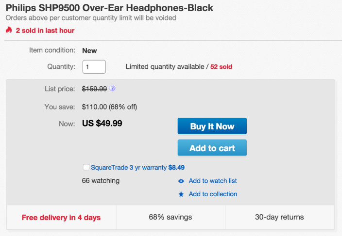 Philips SHP9500 Over-Ear Headphones-sale-01