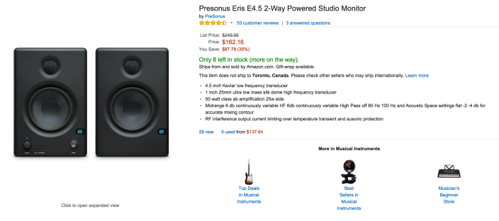 Presonus Eris E4.5 2-Way Powered Studio Monitors-sale-02