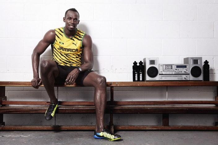 Usain Bolt wears the PUMA evoSPEED