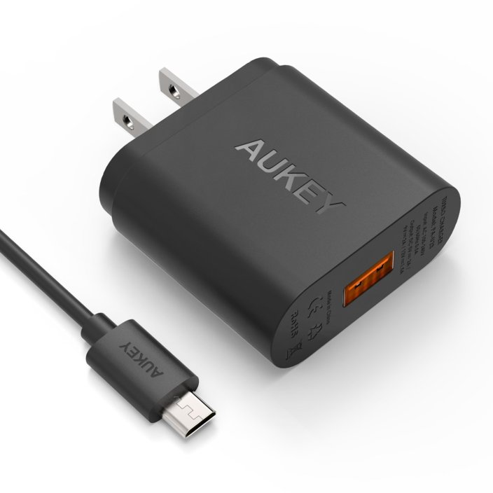 [Qualcomm Certified] Aukey Quick Charge 2.0 18W USB Turbo Wall Charger