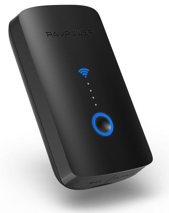 RAVPower FileHub Travel Router with Built-In 6000 mAh Portable Charger