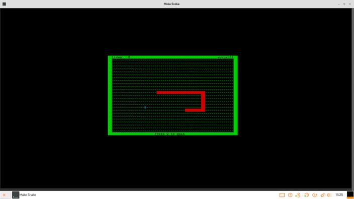 Snake on Kano OS