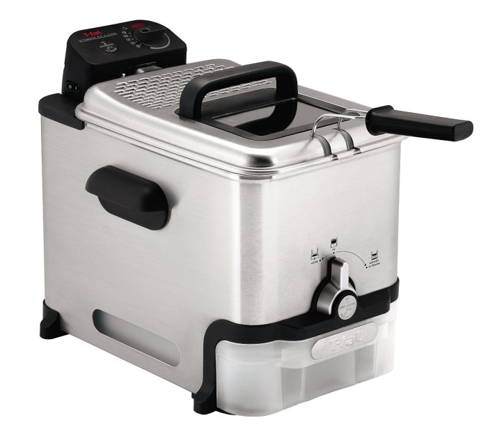 T-fal Ultimate EZ Clean 2.6-Pound : 3.5-Liter Stainless Steel Immersion Deep Fryer (FR8000)-sale-01