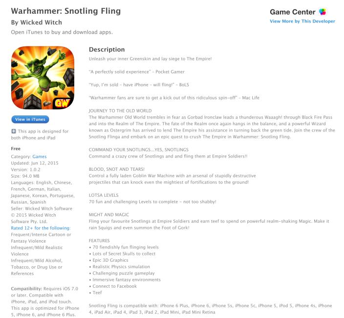 Warhammer-Snotling Fling-Freee App of the Week-05