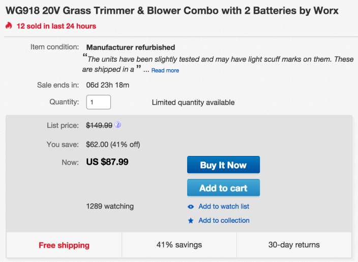WG918 20V Grass Trimmer & Blower Combo with 2 Batterie-sale-02
