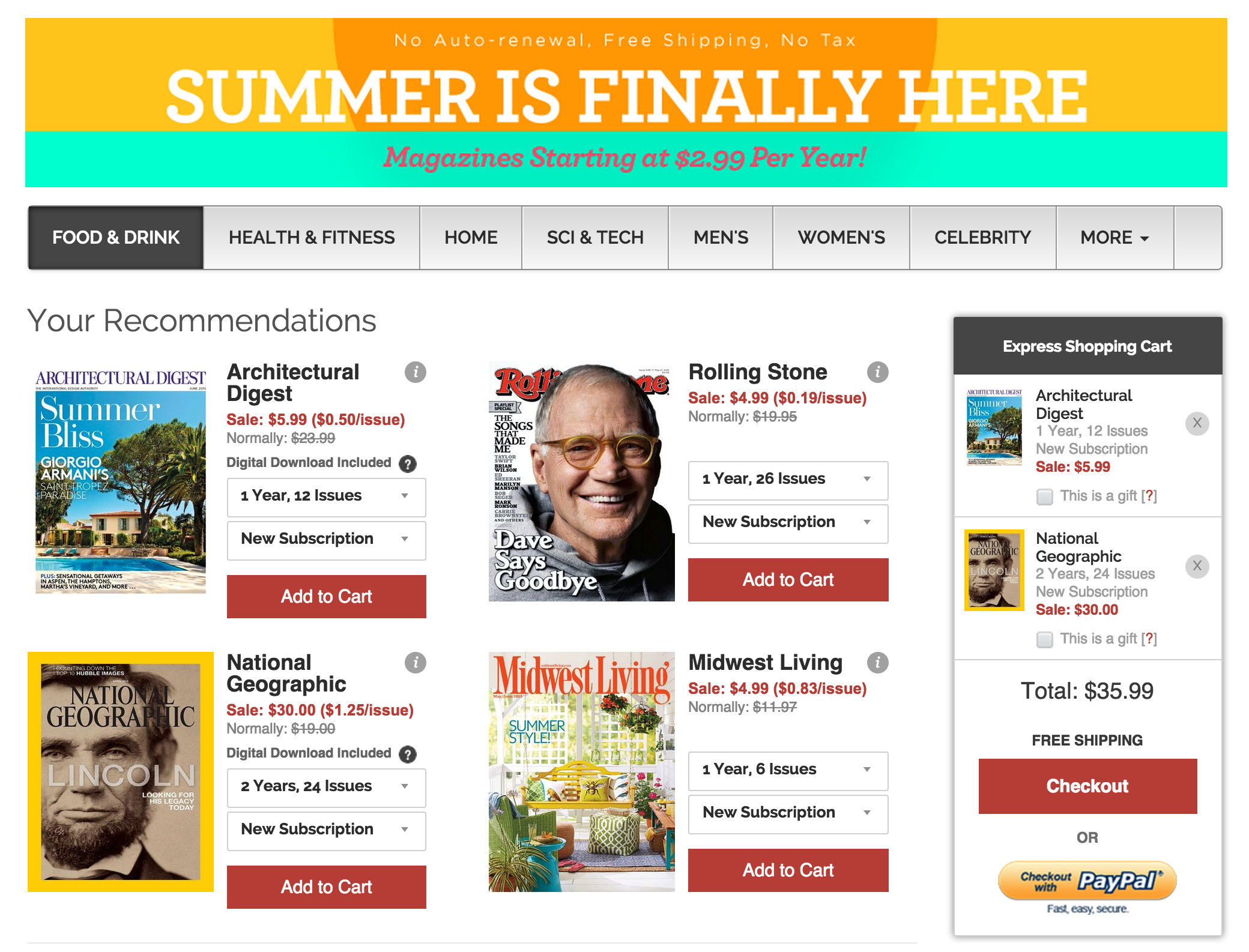 Magazine subs from $3/yr: Wired, Maxim, ESPN, GQ, Nat Geo, Men\'s ...