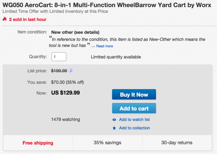 WORX AeroCart- 8-in-1 Multi-Function Wheel Barrow Yard Cart-sale-03