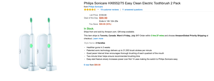 2-pack of Philips Sonicare Easy Clean Electric Toothbrushes (HX6552:75)-sale-03