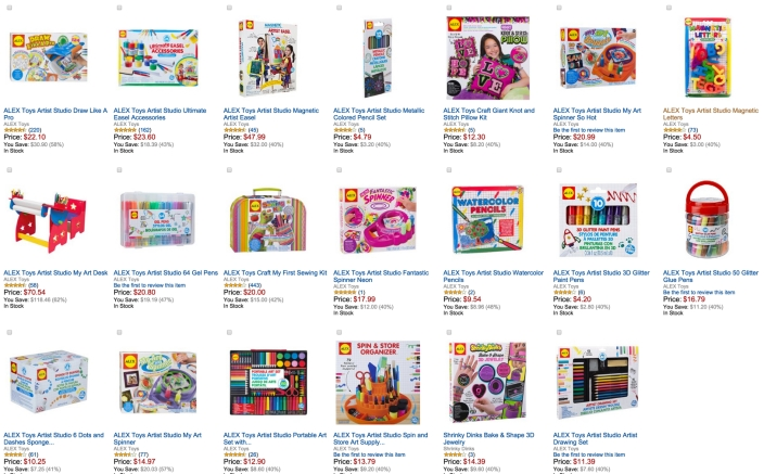 40% Off ALEX Arts & Crafts Back to School Essentials