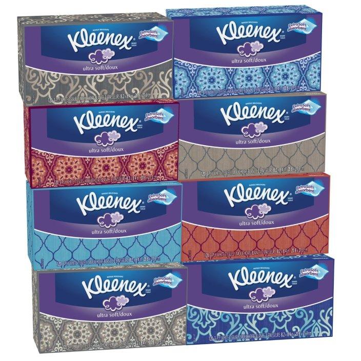 8-pack Kleenex Ultra Soft Tissues, White-sale-01