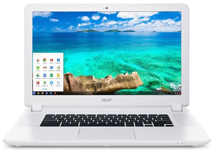 Acer - 15.6%22 Chromebook - Intel Celeron - 2GB Memory - 16GB Solid State Drive - Linen White