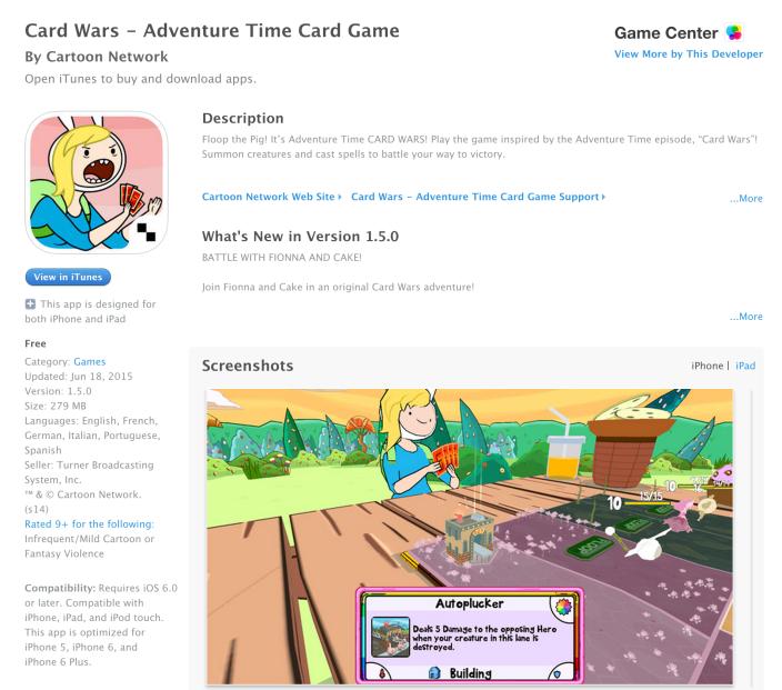 Adventure Time Card Wars-Free App of the Week-08
