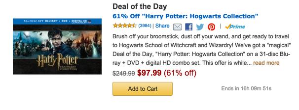 Amazon gold box harry potter