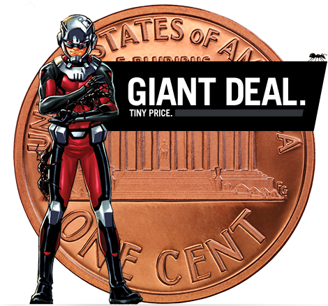 Ant Man promo Marvel Unlimited 1 cent