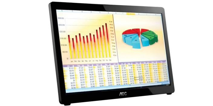 AOC E1649FWU 16%22 USB-Powered Portable LED Monitor