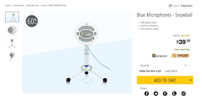 Blue Microphones Snowball USB Mic-sale-02