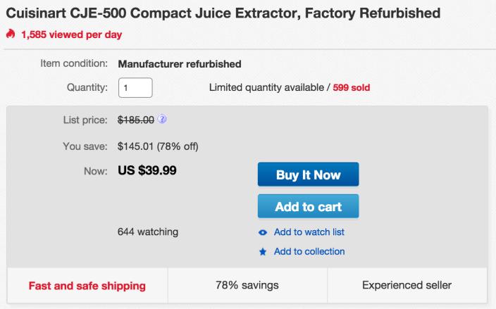 Cuisinart Compact Juice Extractor (CJE-500)-sale-03