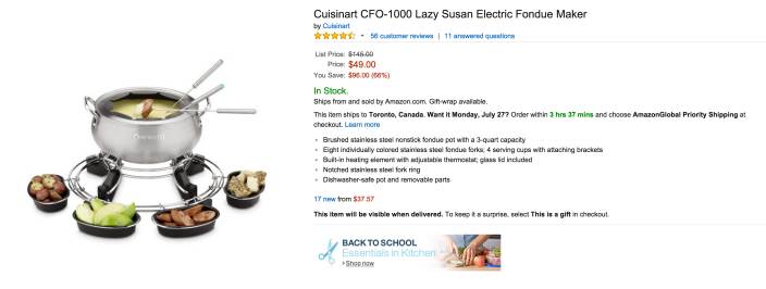 Cuisinart Lazy Susan Electric Fondue Maker (CFO-1000)-sale-02