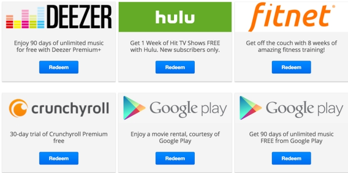 current offers for chromecast users