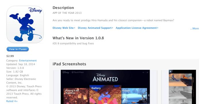 disney-animated-app-store