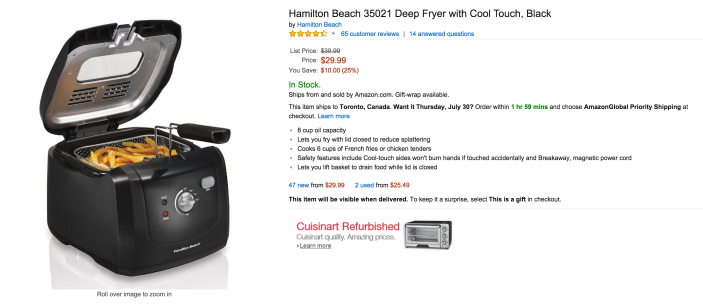 Hamilton Beach Deep Fryer with Cool Touch (35021)-sale-02