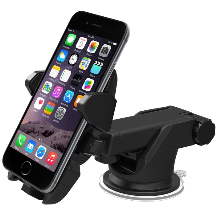 iOttie Easy One Touch 2 Car Mount Holder for iPhone 6 (4.7): Plus (5.5): 5s: 5c:, Samsung Galaxy S6:S6 Edge: S5:S4: S3: Note 4:3, Google Nexus 5:4, LG G4-Retail Pack