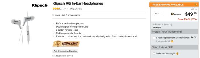 Klipsch R6i White In-Ear Headphones-sale-03
