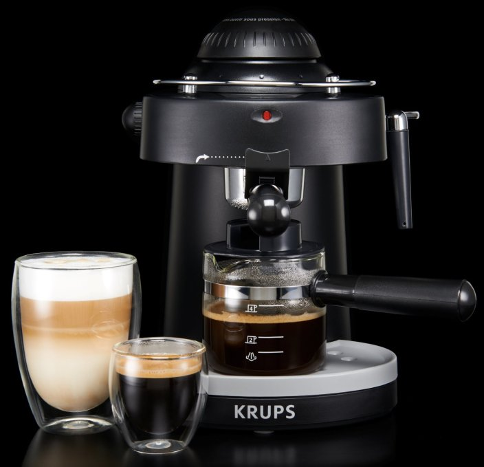 KRUPS Steam Espresso Machine with Frothing Nozzle (XP1000)-sale-02