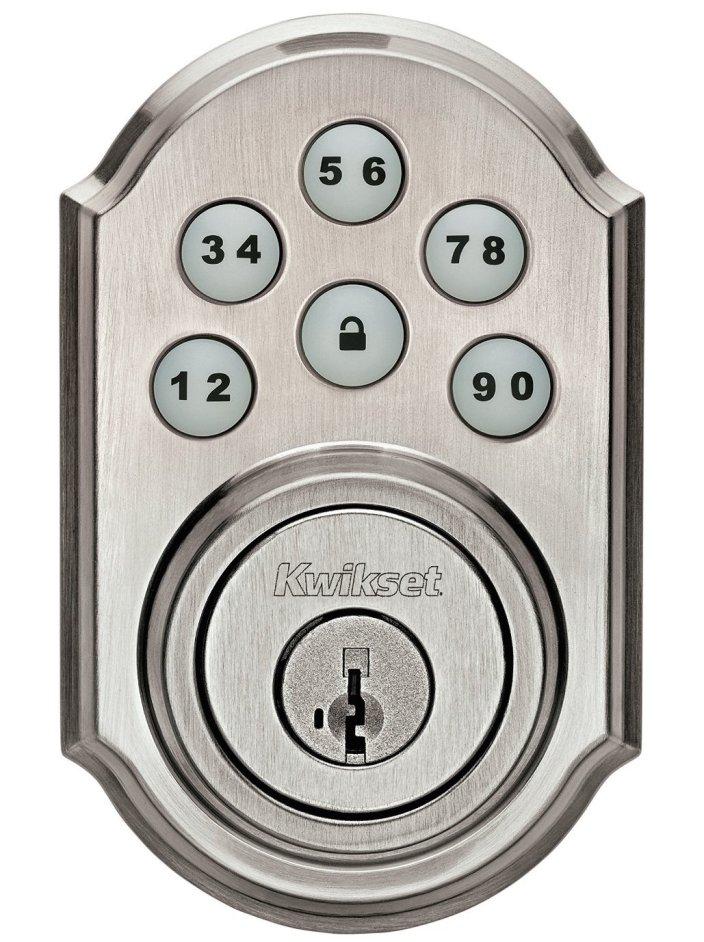 Kwikset SmartCode Electronic Deadbolt featuring Smart Key, Satin Nickel-sale-01