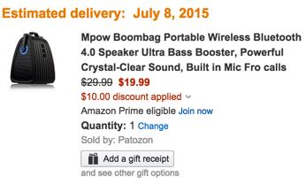 Mpow Boombag Wireless Bluetooth Speaker