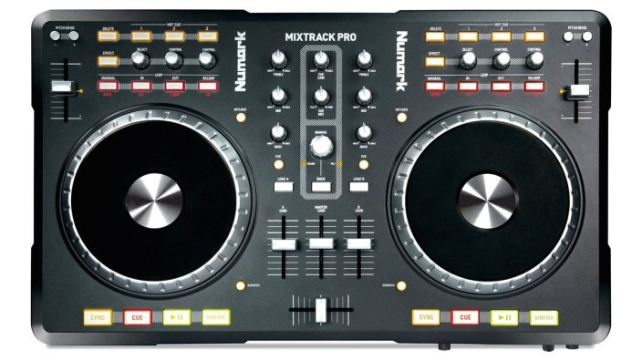 Numark Mixtrack Pro DJ Controller with an integrated audio interface-sale-01