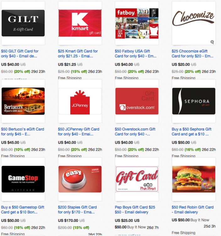 Discounted Gift Cards Up To 20% Off: Staples, JCPenney