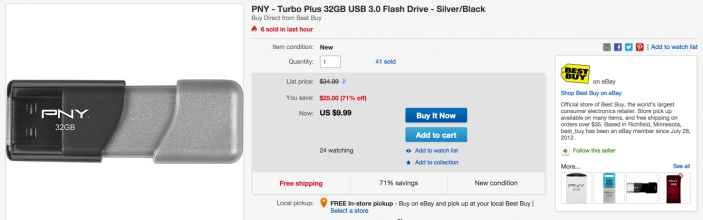 PNY Turbo 32GB USB 3.0 Flash Drive