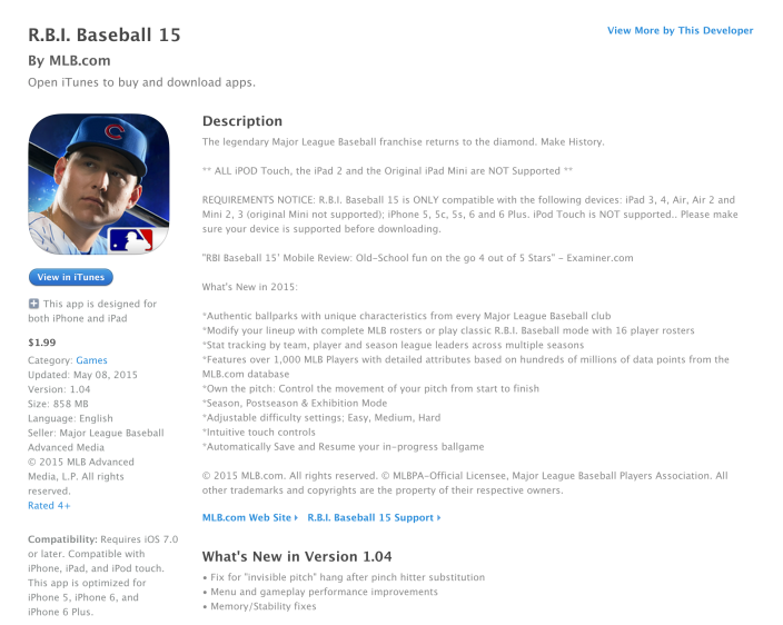 R.B.I. Baseball 15 for iOS-sale-04