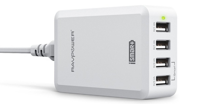RAVPower 36W:7.2A 4-Port USB Wall Charger