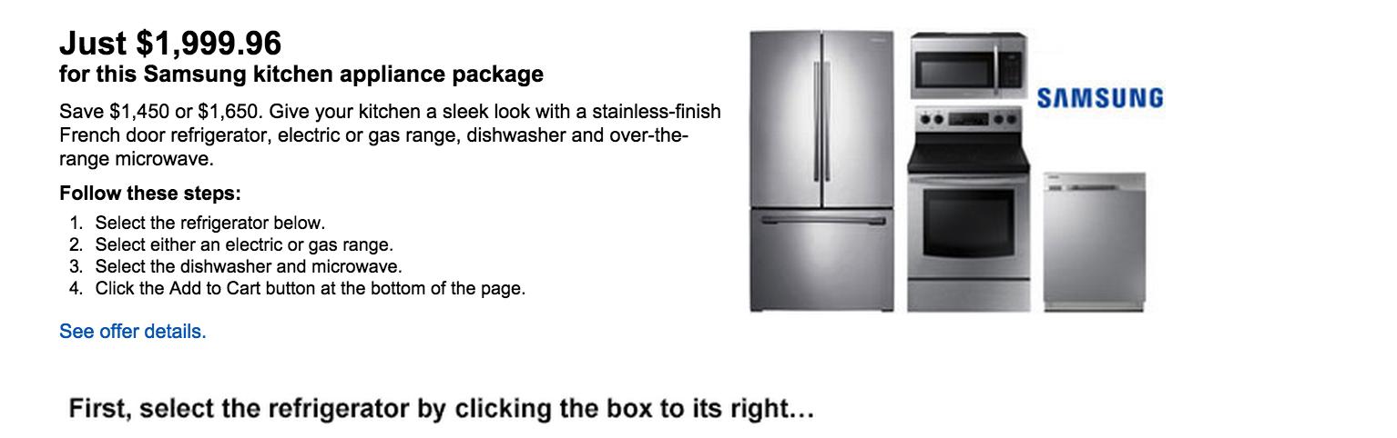 Home Samsung Stainless Kitchen Appliance Set 2000 Orig 3450