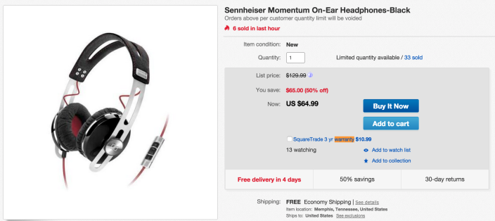Sennheiser Momentum On-Ear Headphones-sale-02