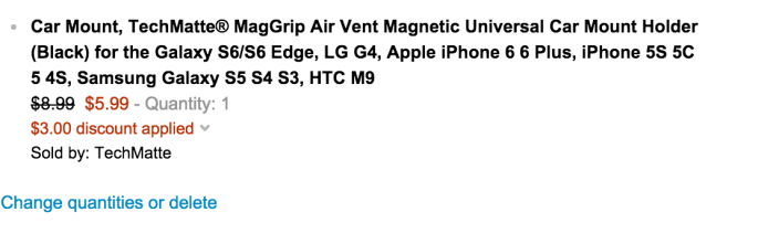 TechMatte MagGrip Air Vent Magnetic Universal Car Mount Holder for iPhone 6:Plus-sale-02