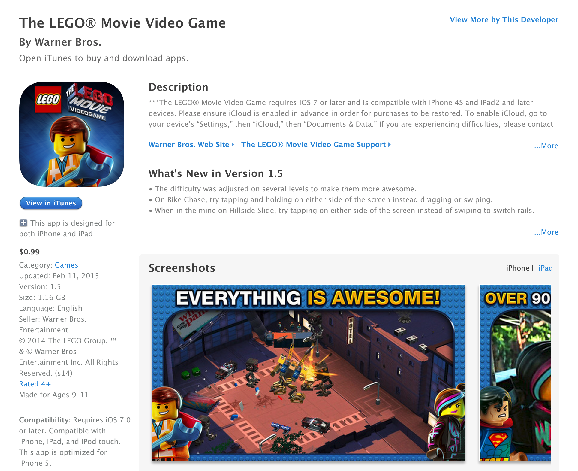 LEGO iOS sale: Movie Video Game hits lowest price ever, Lord of the