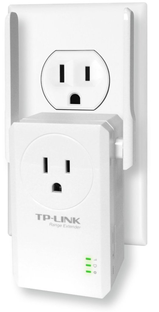 TP-LINK TL-WA860RE New Version N300 Universal Wireless Range Extender with Power Outlet Pass-Through, Wall Plug, Plug and Play, Ethernet Port, Smart Signal Indicator Light