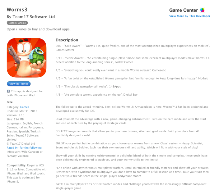 Worms3-Free App of the Week-01