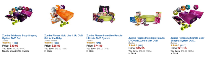 Zumba DVDs-sale-Gold Box