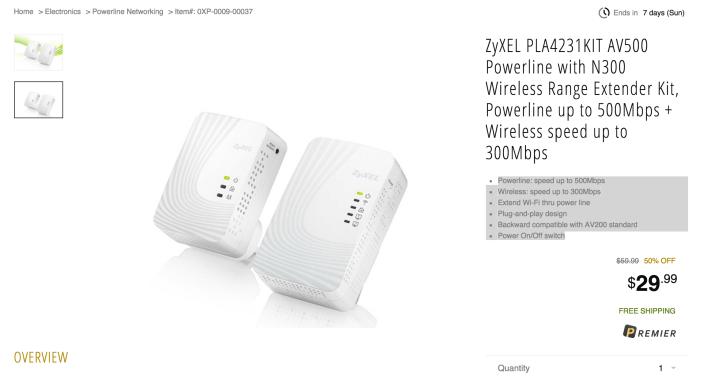 ZyXEL AV500 Powerline with N300 Wireless Range Extender Kit (PLA4231KIT)-sale-01