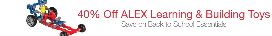 40% Off ALEX Learning & Building Back to School