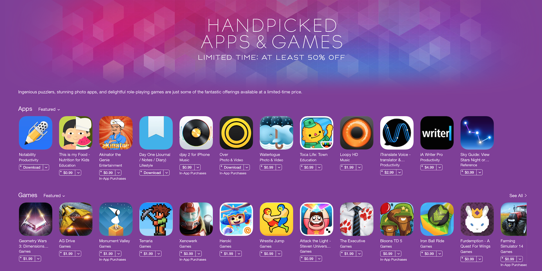 Free games apps downloads