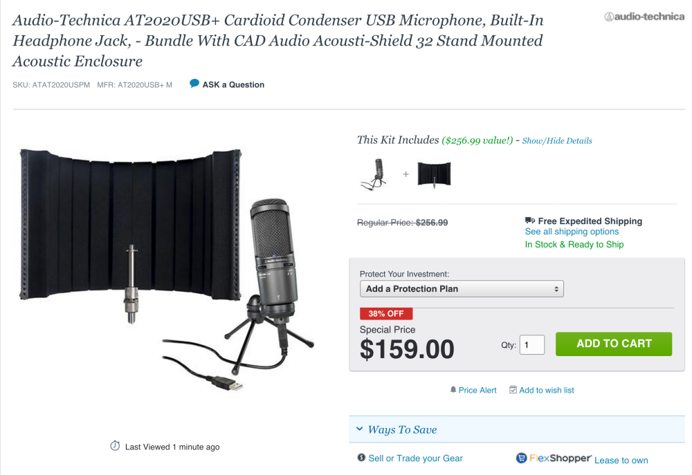 Audio-Technica AT2020USB+ Cardioid Condenser USB Microphone-sale-04