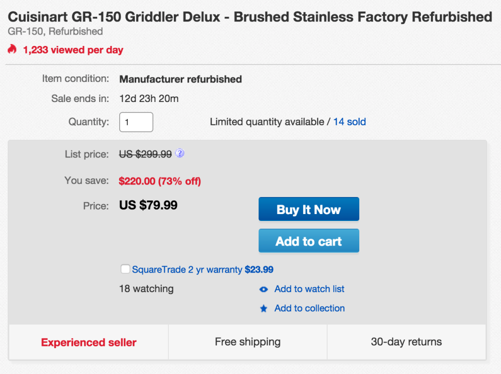 Cuisinart brushed stainless steel Griddler Deluxe (GR-150)-sale-03